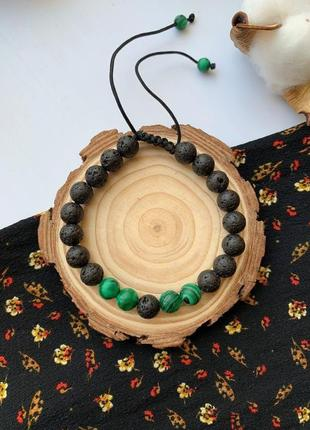 Женский браслет из натурального камня, веревочный браслет