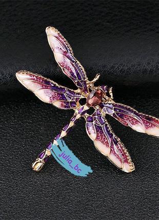 Брошь стрекоза фиолетовая, смотрите больше бижутерии в моих объявлениях