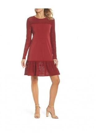 Темно-красное платье michael kors