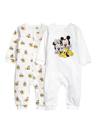 Комплекты пижамы слипы h&m для малышей