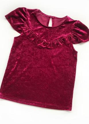 Велюровая блузочка от nutmeg  на возраст 12-13