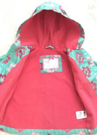 Яркая курточка-ветровка mothercare на 9-12 месяцев