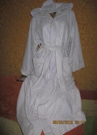 Marks&spencer*длинный фиалкового цвета с капюшоном ,пог  50-55см
