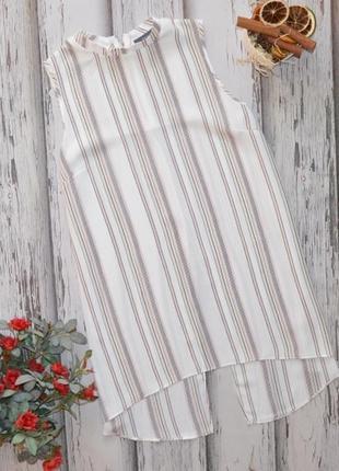 Удлиненная блуза, по спинке разрез, молния primark p m