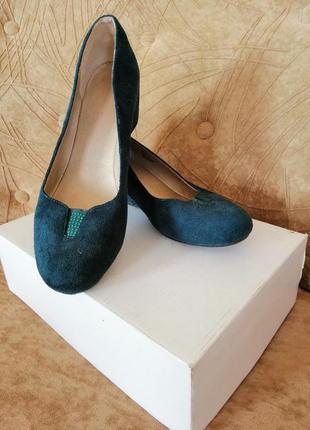 Туфли изумрудного, зелёного цвета /39р/ centro