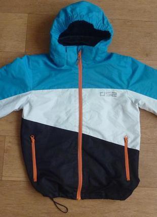 Фирменная куртка-ветровка ds2, 146р, яркая, состояние отличное