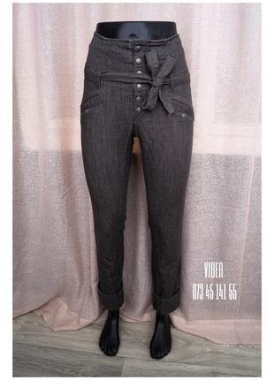 Модные mom jeans на кнопках высокая талия с поясом распродажа на странице