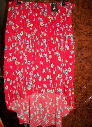Очень красивая ассиметричная летняя юбка