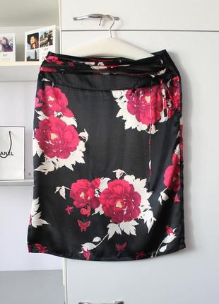Атласная юбка в цветы от etam