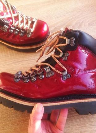 Универсальные кожаные ботинки вездеходы art трекинговые  испания черевики шкіряні