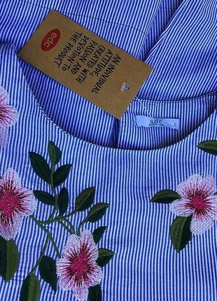 Новая фирменная в голубую полоску рубашка свободного, стильного кроя от esprit