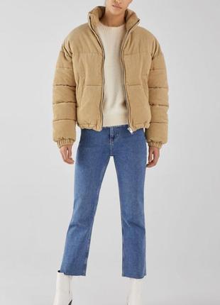 Куртка puffer вельветовая bershka размер xs s m l