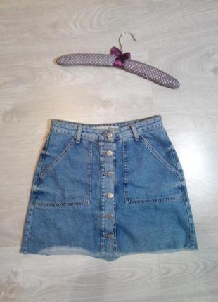 Джинсовая юбка, которая всегда в моде :) размер м
