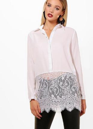 Новая крутая блуза с кружевом