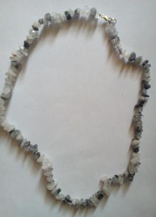 Бусы из камней  кварца волосатика