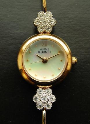 Anne klein 10/3610-11 перламутровые часы из сша мех. ronda swiss