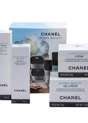 Набор кремов chanel hydra beauty 4 в 1 крем для лица и глаз сыворотка серум