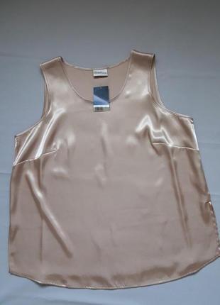 Суперовая атласная майка блуза широкие бретели большого размера essence