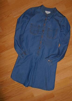Стильное платьице, облегчённый джинс, yd