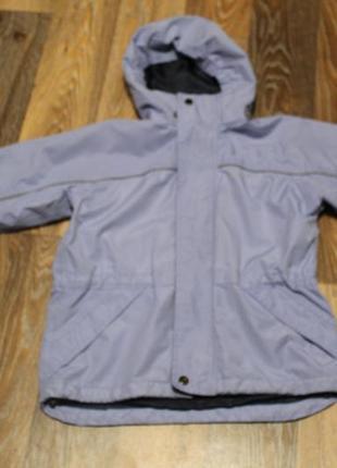 Лавандовая куртка - ветровка winster на ребенка 7-8 лет в отличном состоянии