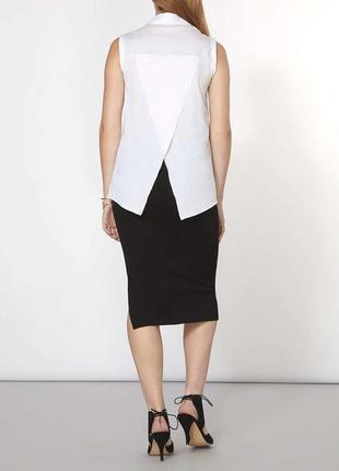 Блуза рубашка белая с вырезом на спине zara