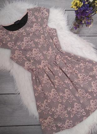 Topshop платье нарядное нежное в розы s 36 8 44 m 38 10 46