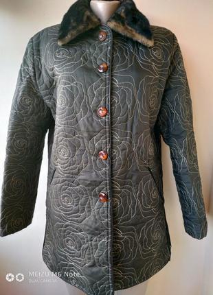 Пальто стеганое болоневое
