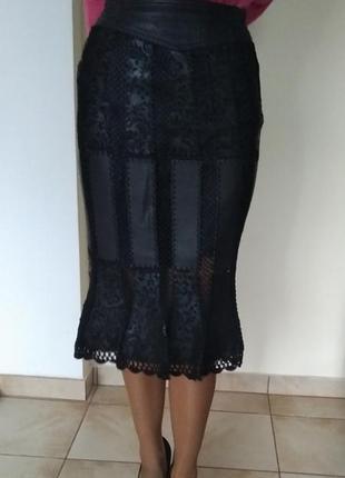 Спідниця, юбка кожаная h&m