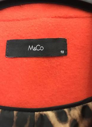 Стильное яркое пальто m&co, большой размер {uk18 - наш 52}2