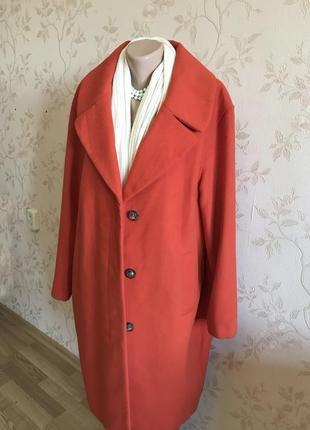 Стильное яркое пальто m&co, большой размер {uk18 - наш 52}5