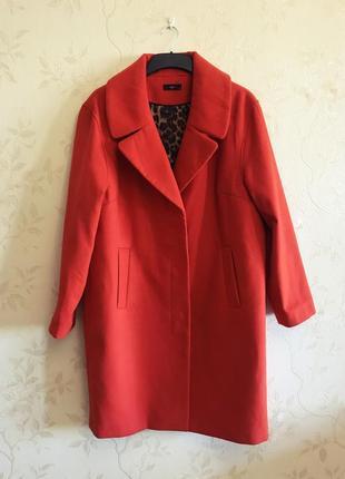 Стильное яркое пальто m&co, большой размер {uk18 - наш 52}3