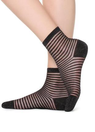 Итальянские носочки в полоску с глиттером calzedonia