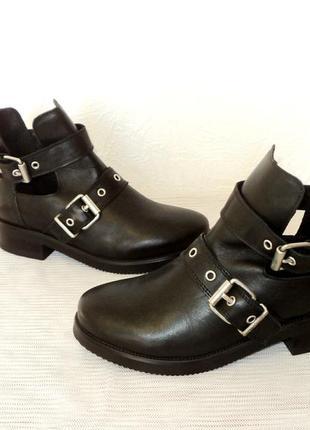 """Стильные кожаные ботинки от """"zign"""", 38 р"""