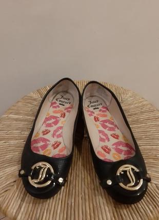 Туфли балетки черные juicy couture раз.39.5 - 40 (26 см)