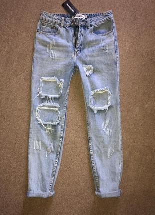 Крутые рваные джинсы
