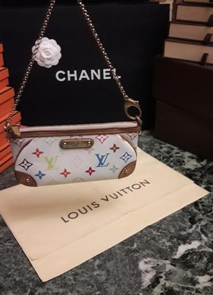 Сумочка/клатч louis vuitton multicolor milla! 🤩♥️👑 💯% оригинал!