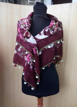 Косынка / платок с розами