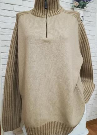 Мужской теплый шерстяной свитер,р.xxl-xxxl, бренд tcm