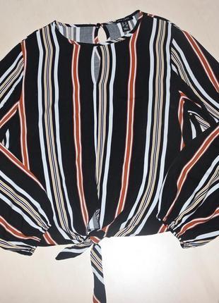 Полосатая блуза свободного кроя