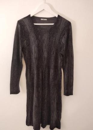 Распродажа! платье в змеиный принт/трикотажное платье