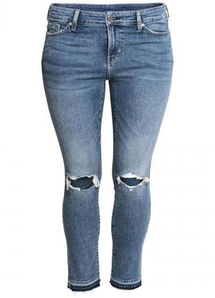 Оригинальные джинсы-slim regular ankle jeans от бренда h&m разм. 52
