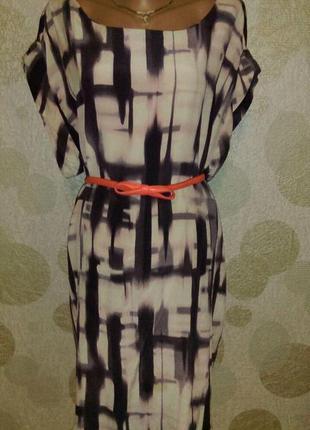 Красивое шелковое платье туника