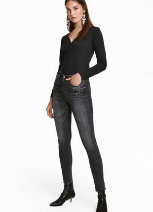 Оригинальные джинсы-skinny high ankle jeans от бренда h&m разм. 27