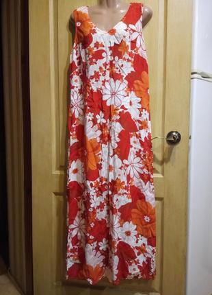 Летнее длинное платье kazarini швейцария