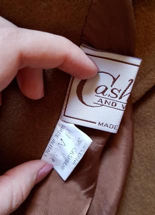 Кашемировое с шерсть virgin пальто, разм. 483 фото
