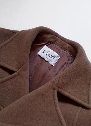 Кашемировое с шерсть virgin пальто, разм. 484 фото