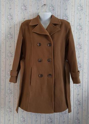 Кашемировое с шерсть virgin пальто, разм. 485 фото