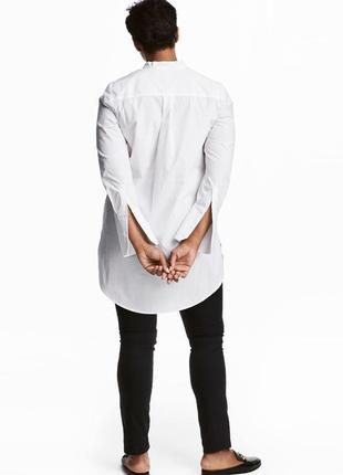 Белая хлопковая рубашка, блуза h&m.