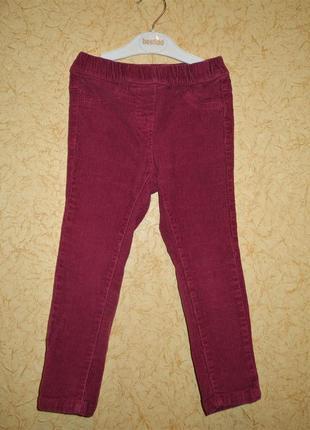 Вельветовые брюки topolino 104 р, джеггинсы, джинсы, штаны на девочку