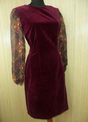 Платье футляр натуральный бархат а деловом стиле